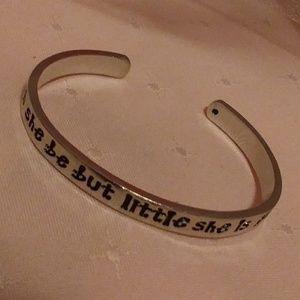 Silver tone Cuff Inspirational Bracelet